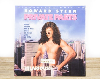 Vintage 1997 SEALED Howard Stern Private Parts Movie / Vintage Laser Disc Movies / Movie Theater Decor / Movie Room Decor / 90s Decor