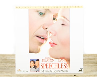 Vintage 1995 Speechless LaserDisc Movie / Vintage Laser Disc Movies / Movie Theater Decor / Movie Room Decor Movie Posters