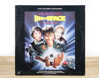 Vintage 1980's InnerSpace LaserDisc Movie / Vintage Laser Disc Movies / Movie Theater Decor / Movie Posters / 80s Decor