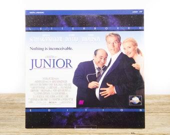 Vintage 1995 Junior LaserDisc Movie / Vintage Laser Disc Movies / Movie Theater Decor / Movie Room Decor Movie Posters / 90s Decor