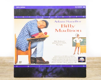 Vintage 1995 Billy Madison LaserDisc Movie / Vintage Laser Disc Movies / Movie Theater Decor / Movie Room Decor Movie Posters / 90s Decor