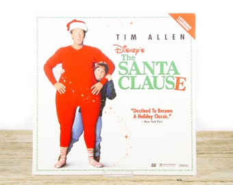 Vintage 1995 Disney The Santa Clause LaserDisc Movie / Vintage Laser Disc Movies / Movie Theater Decor / Movie Room Decor / Movie Posters