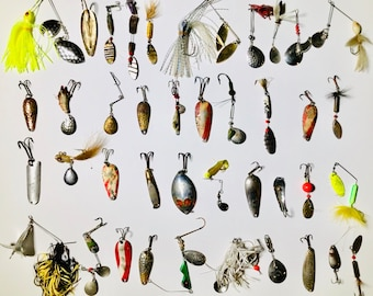 Custom Fishing Lot Listing for Ken - 90 Vintage Fishing Lures