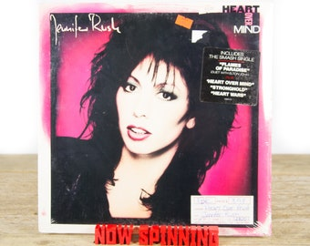 "Vintage Factory Sealed Jennifer Rush ""Heart Over Mind"" (1987) Vinyl 12"" Album LP / Antique 33 Vinyl Records / Rock Pop"