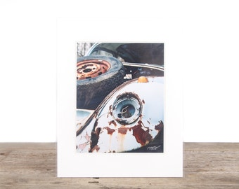Original Fine Art Photography / Blue VW Bettel Bug / Volkswagen Photography / VW Gift / Film Photography Prints / Color Photography / Matted