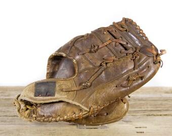 Old Vintage Leather Baseball Glove / All-Star 220 Glove / Antique Baseball Glove / Old Glove Antique Mitt / Baseball Decor