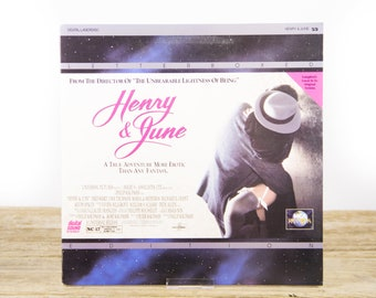 Vintage 1990 Henry & June LaserDisc Movie / Vintage Laser Disc Movies / Movie Theater Decor / Movie Room Decor Movie Posters / 90s Decor