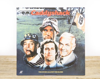 Vintage 1993 Caddyshack LaserDisc Movie / Vintage Laser Disc Movies / Movie Theater Decor / Movie Room Decor Movie Posters / 90s Decor