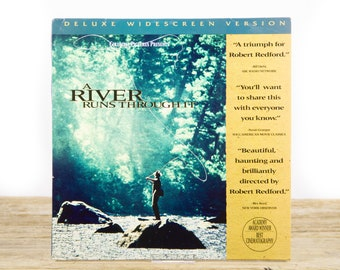 Vintage 1992 A River Runs Through It LaserDisc Movie / Vintage Laser Disc Movies / Movie Theater Decor / Movie Posters / 80s Decor