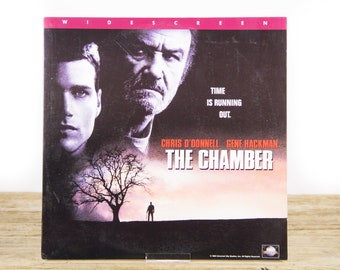 Vintage 1996 The Chamber LaserDisc Movie / Vintage Laser Disc Movies / Movie Theater Decor / Movie Room Decor Movie Posters / 90s Decor