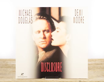Vintage 1994 Disclosure LaserDisc Movie / Vintage Laser Disc Movies / Movie Theater Decor / Movie Room Decor Movie Posters / 90s Decor