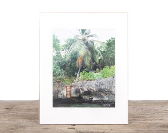 Original Fine Art Photography / Jamaica / Island Photography / Palm Trees / Beach Gift / Beach Decor / Beach House Decorations / Ocean Water