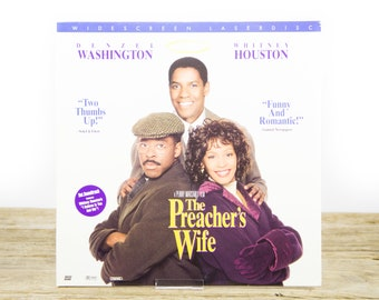Vintage 1996 The Preacher's Wife LaserDisc Movie / Vintage Laser Disc Movies / Movie Theater Decor / Movie Room Decor Movie Posters