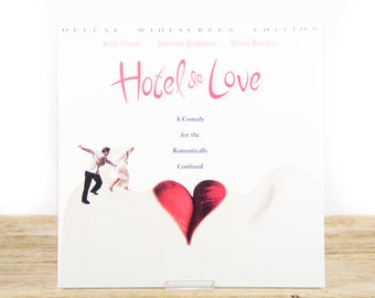 Vintage Hotel De Love LaserDisc Movie / Vintage Laser Disc Movies / Movie Theater Decor / Movie Posters / 90s Decor
