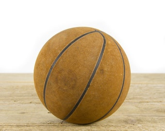 Vintage Basketball / Basketball Collectible / Sports Room Decor / Game Room / Basketball Gift / Old Basketball