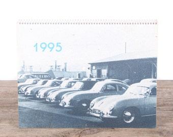 1995 Porsche Calendar / Porsche 356 Car / Porsche Collectible / Retro Porsche Poster / Porsche Decor / Man Cave Car Picture Garage Gift
