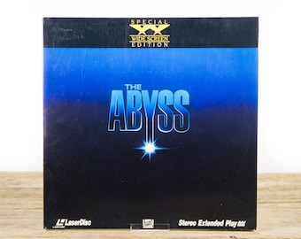 Vintage 1992 The Abyss LaserDisc Movie / Vintage Laser Disc Movies / Movie Theater Decor / Movie Room Decor Movie Posters / 90s Decor