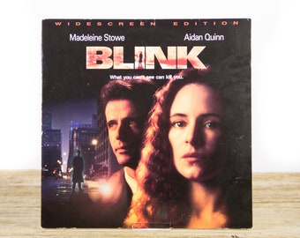 Vintage 1994 Blink LaserDisc Movie / Vintage Laser Disc Movies / Movie Theater Decor / Movie Posters / 90s Decor / 90s Movie