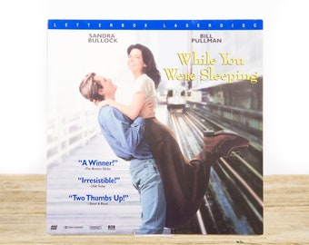 Vintage 1995 While You Were Sleeping LaserDisc Movie / Vintage Laser Disc Movies / Movie Theater Decor / Movie Room Decor Posters /90s Decor