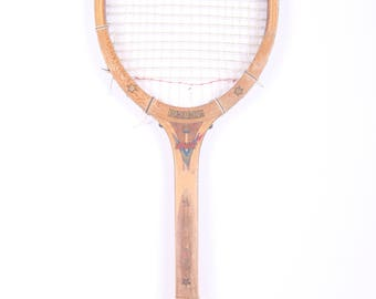 Vintage Wooden Tennis Racket / Regent Flight Tennis Racket / Antique Wood Tennis Racket / Antique Tennis Racket / Sports Decor