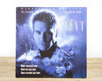 Vintage 1997 The Saint LaserDisc Movie / Vintage Laser Disc Movies / Movie Theater Decor / Movie Room Decor Movie Posters / 90s Decor