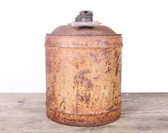 Antique Oil/Gas Can / 5 Gallon Vintage Oil Can / Antique Gas Can / Large Metal Oil Can / Old Oil Can Garage Decor /Automotive Collectible