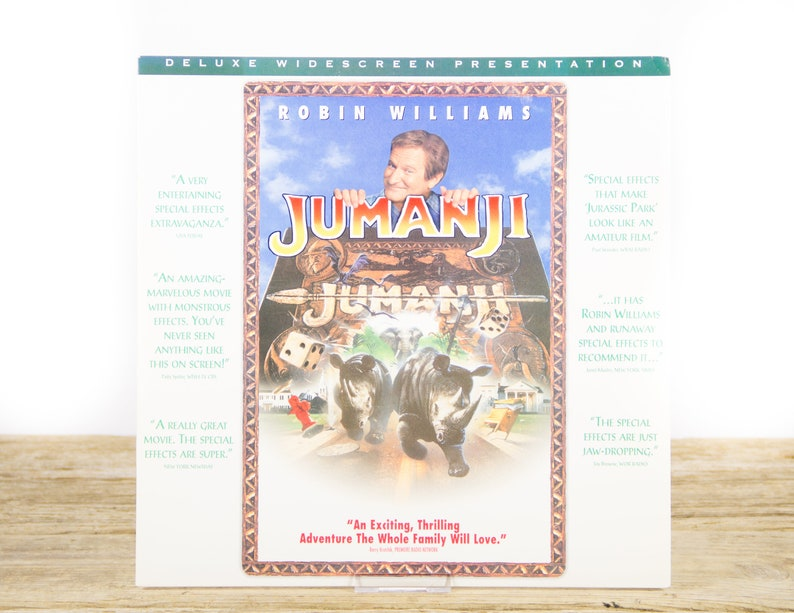 Vintage 1995 Jumanji LaserDisc Movie / Vintage Laser Disc Movies / Movie  Theater Decor / Movie Room Decor Movie Posters / 90s Decor