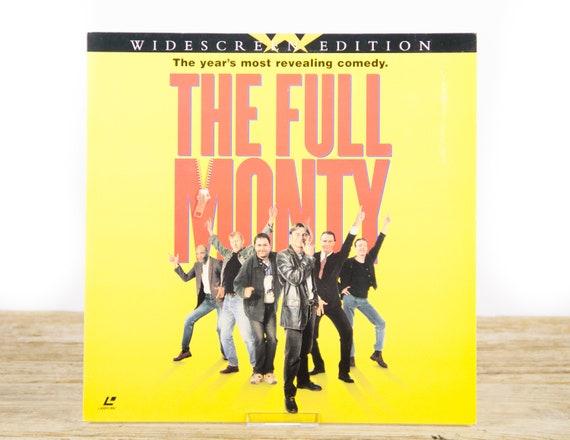 Vintage 1998 Full Monty LaserDisc Movie / Vintage Laser Disc Movies / Movie Theater Decor Movie Room Decor Movie Posters / 90s Decor