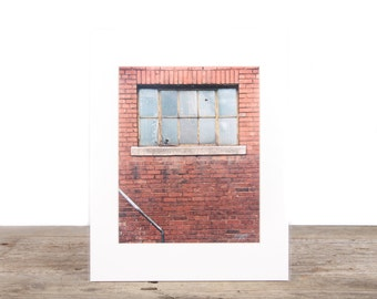 Original Fine Art Photography / Unique Photography / Old Brick Wall and Window / Signed Photography / Photography Prints / Color Photography