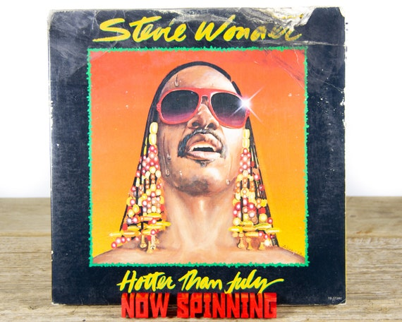 "Vintage Stevie Wonder ""Hotter Than July"" (1980) Vinyl Record / Funk / Soul / Old Records / Antique 33 Vinyl Records"