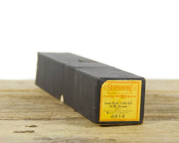 Vintage Supertone Player Piano Roll Good-Night, Little Girl Of My Dreams 4914 / Player Word Rolls Played By Bonnie Bergstrom