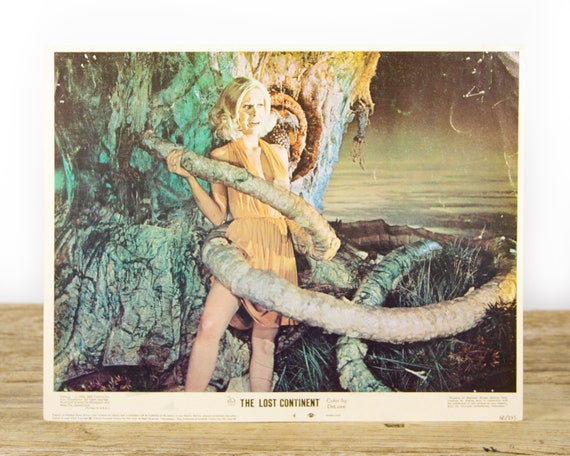 The Lost Continent - Original 11x14 Movie Lobby Card from 1968 (68/195) - Movie Theater Room Decor Collectible - Adventure