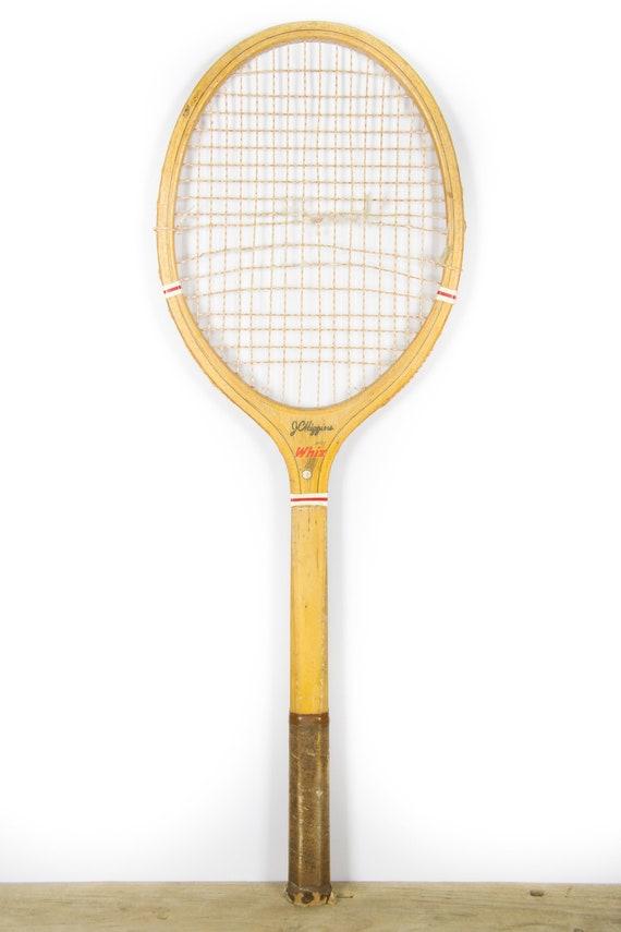 Vintage Wooden Tennis Racket / Wood Tennis Racquet  / JC Higgins Whiz Tennis Racket / Antique Tennis Racket / Sports Decor
