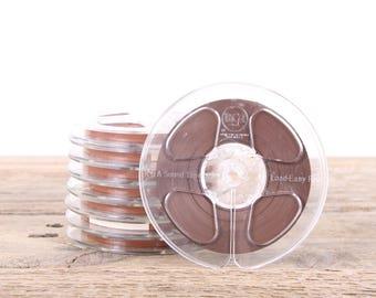 "8 Vintage  5"" Sound Tape / RCA Magnetic Recording Plastic Tape Reels  / Audio Recording Tape / Audiophile Gift Music Decor"