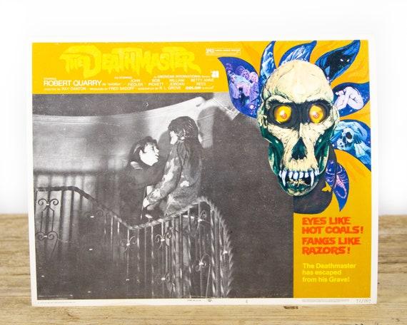 Deathmaster Horror Movie - Original 11x14 Movie Lobby Card from 1972 (72/267) - Movie Theater Room Decor Collectible - Horror Skull
