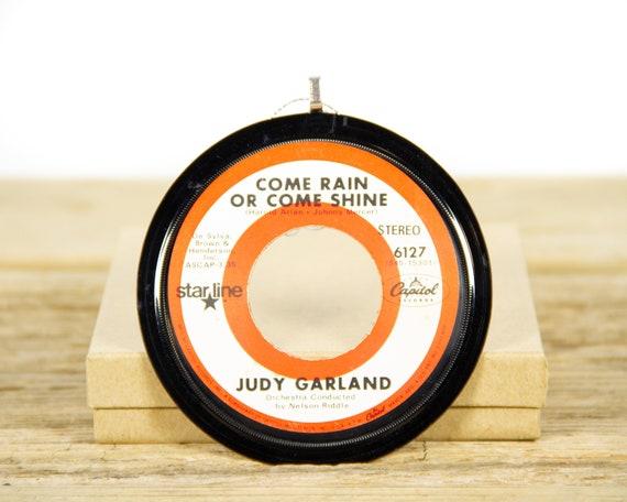 "Vintage Judy Garland ""Come Rain Or Come Shine"" Record Christmas Ornament / Music Gift / Vintage Ornament / Jazz, Pop, Big Band"