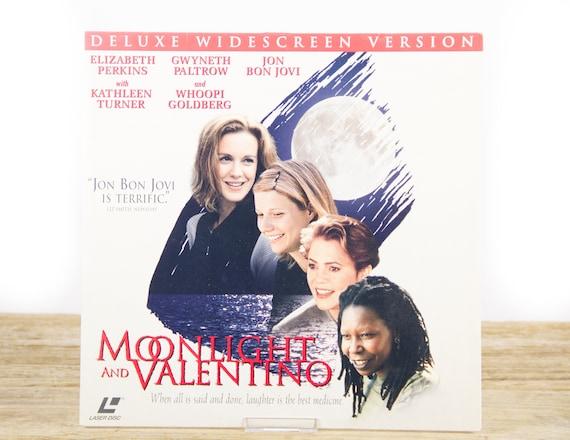 Vintage 1995 Moonlight and Valentino LaserDisc Movie / Vintage Laser Disc Movies / Movie Theater Decor / Movie Posters / 90s Decor