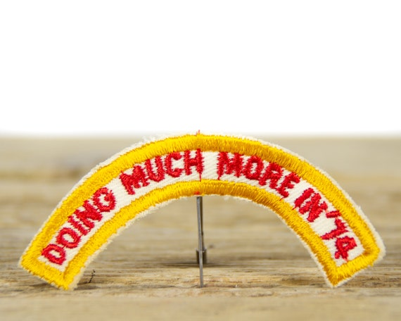 """Vintage Boy Scouts of America Doing Much More in 74 Patch / BSA 4"""" Scout Patch"""
