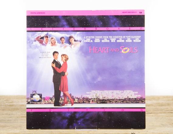 Vintage 1993 Heart and Souls LaserDisc Movie / Vintage Laser Disc Movies / Movie Theater Decor / Movie Room Decor Movie Posters / 90s Decor