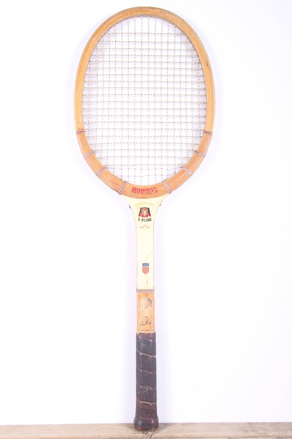 Raquette de Tennis en bois Vintage / haut Regent Star raquette de Tennis / Antique bois raquette de Tennis / Antique raquette de Tennis / Sports Decor