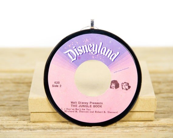 """Vintage Walt Disney """"The Jungle Book"""" Record Christmas Ornament from 1975 / Disneyland Holiday Decor / Music Gift / Children's, Funk, Soul"""