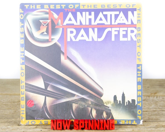 """Vintage The Manhattan Transfer """"The Best Of The Manhattan Transfer"""" (1981) Vinyl Record / Antique Records / Jazz / Pop / Big Band / Swing"""