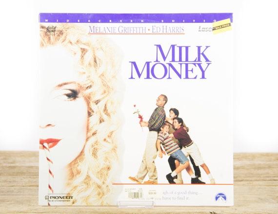 Vintage 1995 SEALED Milk Money LaserDisc Movie / Vintage Laser Disc Movies / Movie Theater Decor / Movie Room Decor / 90s Decor