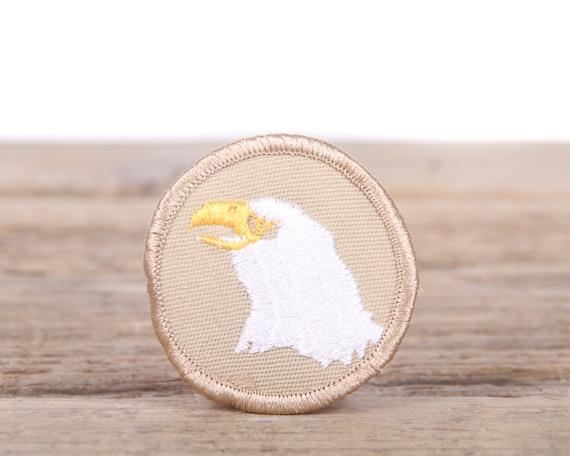 Vintage Scout Patches / Beige BSA Eagle Patrol Patch / Eagle Scout Patch / Grunge Patches / Punk Patches / Retro Patch