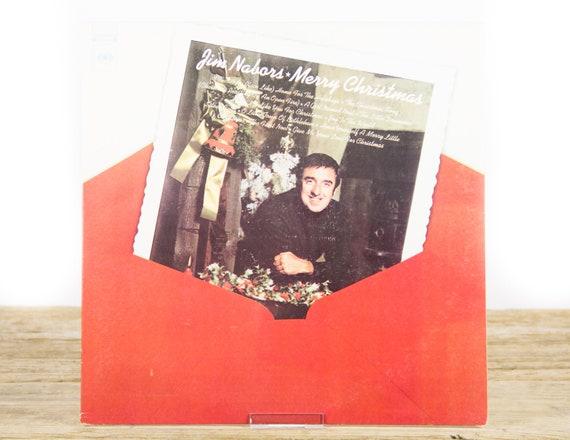 "Vintage Christmas Vinyl Record / Jim Nabors ""Merry Christmas"" (1972) 33 Vinyl Record / Xmas Music /  Pop"