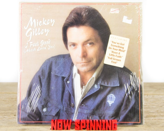 """Vintage Factory Sealed Mickey Gilley """"I Feel Good (About Lovin' You)"""" LP Record Album / Vinyl Record / 33 Vinyl Records / Country Folk Music"""