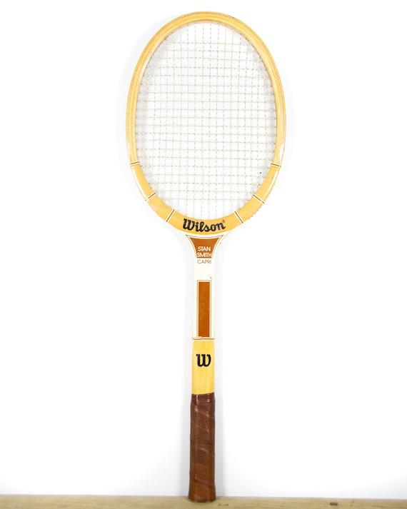 Vintage Wilson Stan Smith Capri Wooden Tennis Racquet / Antique Wood Tennis Racket / Sports Decor