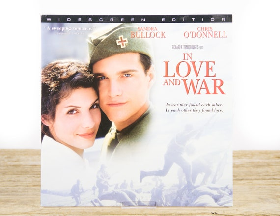 Vintage In Love And War LaserDisc Movie / Vintage Laser Disc Movies / Movie Theater Decor / Movie Room Decor Movie Posters / 90s Decor