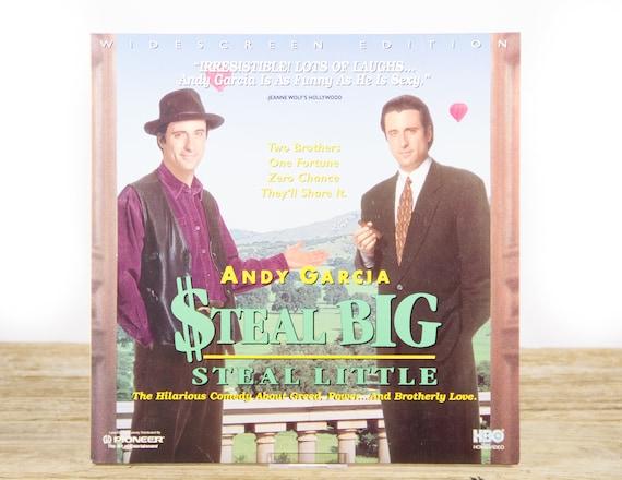 Vintage 1995 Steal Big LaserDisc Movie / Vintage Laser Disc Movies / Movie Theater Decor / Movie Room Decor Movie Posters / 90s Decor