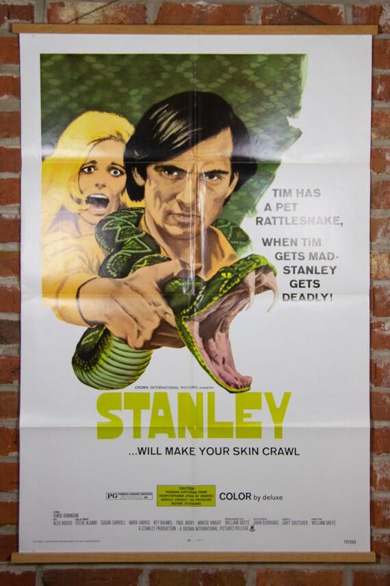 """Stanley from 1972 - Original 27"""" X 41"""" (1) One Sheet Folded Movie Poster - Horror Movie, Adventure, Snake, Rattlesnake Poster"""